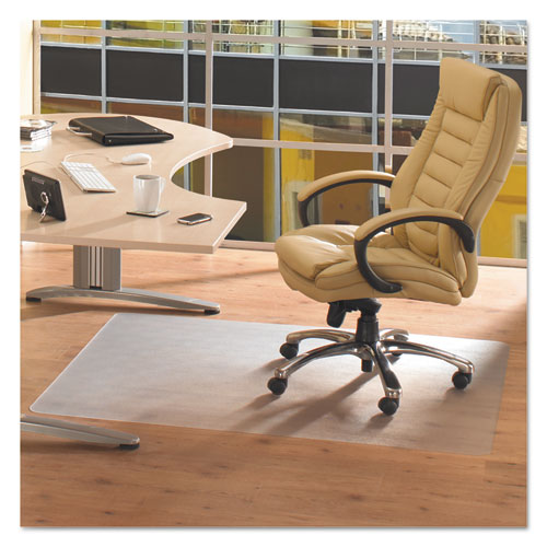 Cleartex Advantagemat Phthalate Free PVC Chair Mat for Hard Floors, 53 x 45, Clear | by Plexsupply