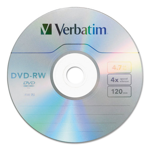 Dvd-rw, 4.7gb, 4x, 30/pk spindle, sold as 1 package