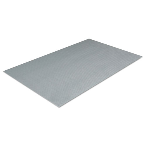 Comfort King Antimicrobial Anti-Fatigue Mat, Zedlan, 36 x 144, Steel Gray