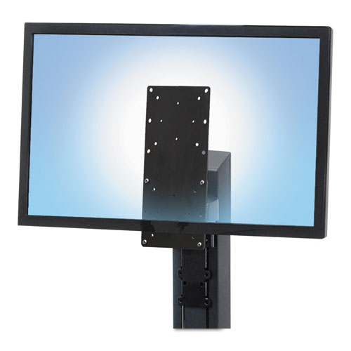 Tall-User Kit for WorkFit-A/S Single Display Workstations, Black