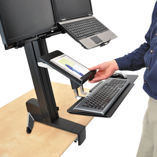 Ergotron® WorkFit-S Tablet/Document Holder, 7 1/4 x 1 1/2 x 10 3/4, Black