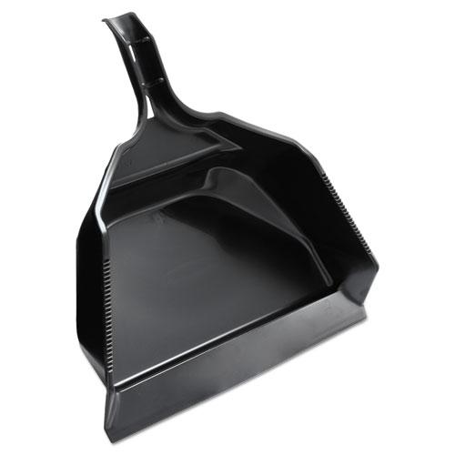 "Extra Large Dust Pan, 14 4/5W x 16""L x 5 2/5""H, Black, Plastic, 6/Carton"