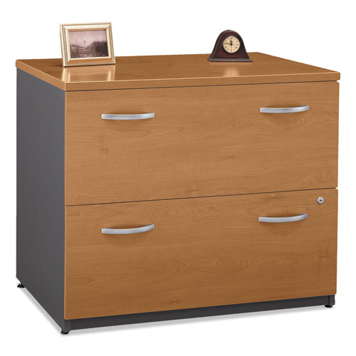 Series C Collection 2 Drawer 36W Lateral File (Assembled), 35.75w x 23.38d x 29.88h, Natural Cherry | by Plexsupply