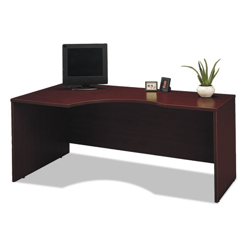 Look Series C Collection Left Corner Desk Module 71 13 X 35 5 X 29 88 Mahogany By Bush Industries