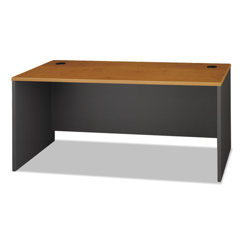 Series C Collection 66W Desk Shell, 66w x 29.38d x 29.88h, Natural Cherry/Graphite Gray | by Plexsupply