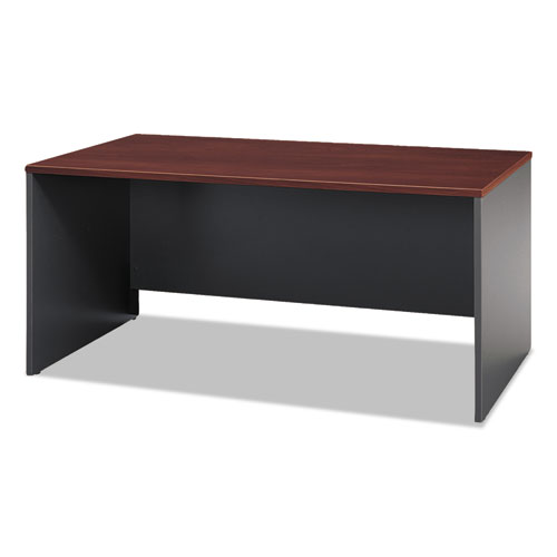 Series C Collection 66W Desk Shell, 66w x 29.38d x 29.88h, Hansen Cherry/Graphite Gray | by Plexsupply