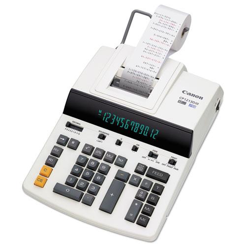 Canon® CP1213DIII 12-Digit Heavy-Duty Commercial Desktop Printing Calculator, 4.8 L/Sec