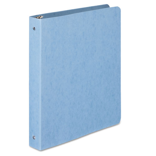 PRESSTEX Round Ring Binder, 3 Rings, 1 Capacity, 11 x 8.5, Light Blue