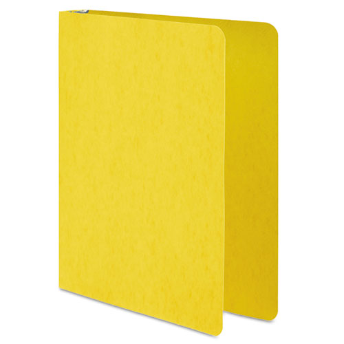 PRESSTEX Round Ring Binder, 3 Rings, 1 Capacity, 11 x 8.5, Yellow