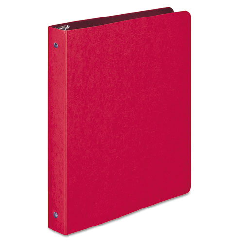 PRESSTEX Round Ring Binder, 3 Rings, 1 Capacity, 11 x 8.5, Executive Red