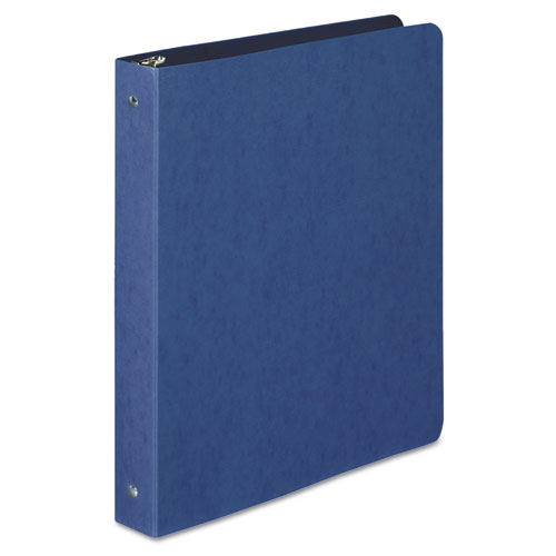PRESSTEX Round Ring Binder, 3 Rings, 1 Capacity, 11 x 8.5, Dark Blue