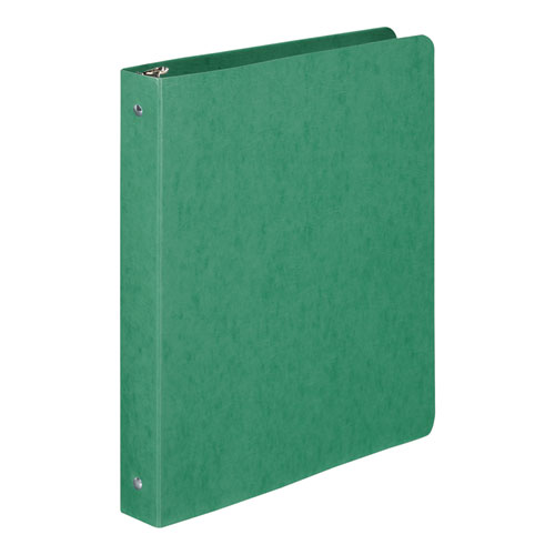 PRESSTEX Round Ring Binder, 3 Rings, 1 Capacity, 11 x 8.5, Dark Green