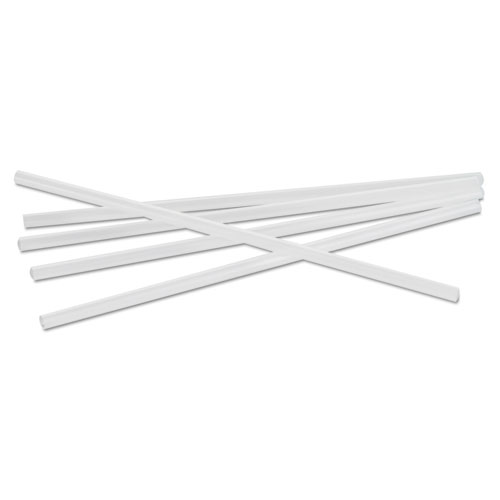 Jumbo Straws, 7 3/4, Plastic, Translucent, Unwrapped, 250/Pack