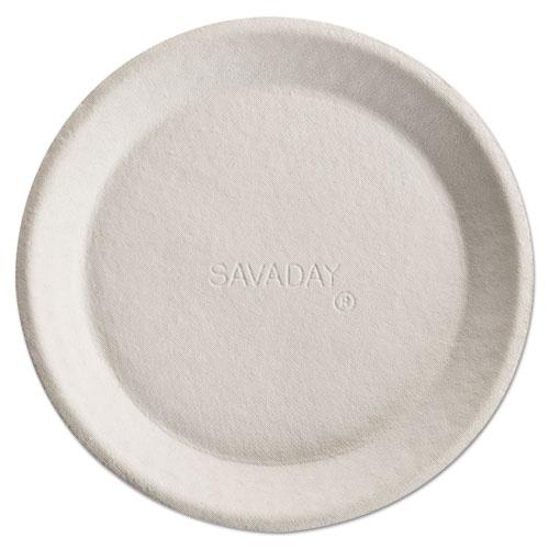 Savaday Molded Fiber Plates, 10 Inches, Cream, Round | by Plexsupply