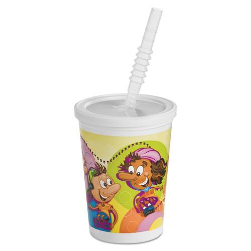 Kids Cold Cups, Plastic, 12 oz, Multi-color 06273