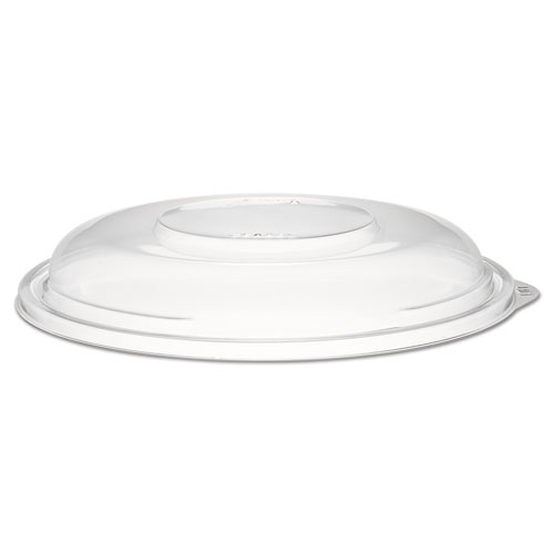 "PresentaBowls Clear Dome Lids, Plastic, 7 3/10"" dia, 252 Lids/Carton 