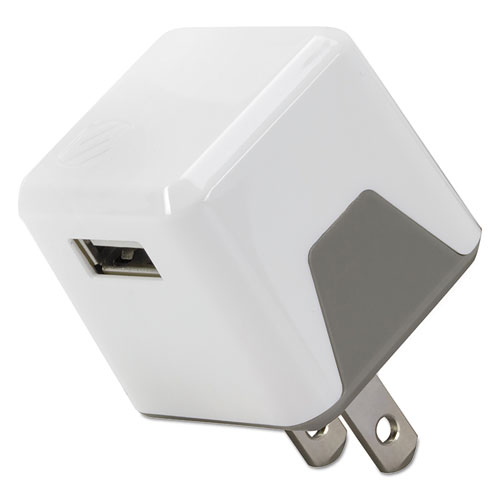 superCUBE Flip Wall Charger, USB, White | by Plexsupply
