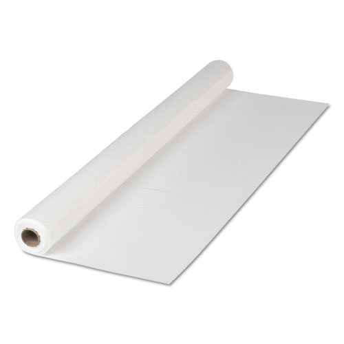 Plastic Roll Tablecover, 40 x 300 ft, White