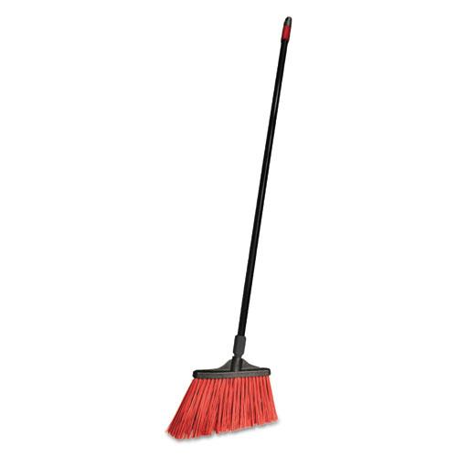 """O-Cedar® Commercial MaxiStrong Angle Broom, Polypropylene Bristles, 56"""" Handle, Black, 6/Carton"""