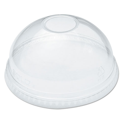 Ultra Clear Dome Cold Cup Lids f/16-24 oz Cups, PET, 100/Pack DLR626PK