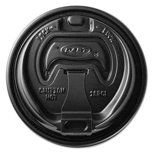 Optima Reclosable Lids for Paper Hot Cups for 10-24 oz Cups, Black, 1000/Carton OPT316B