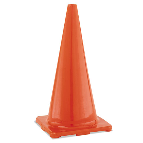 Hi-Visibility Vinyl Cones, 28 Tall, Orange
