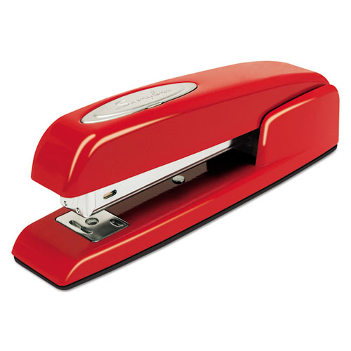 747 Business Full Strip Desk Stapler, 25-Sheet Capacity, Rio Red | by Plexsupply