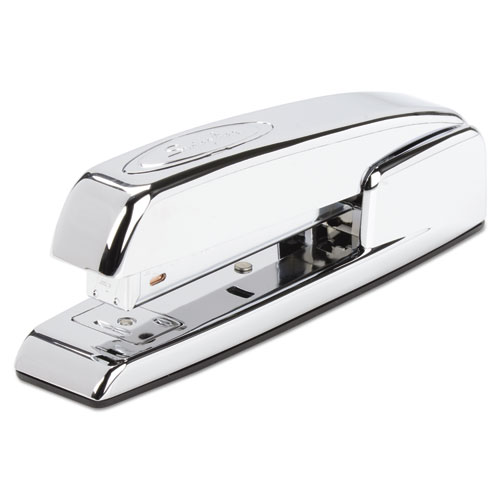 747 Business Full Strip Desk Stapler, 25-Sheet Capacity, Polished Chrome | by Plexsupply