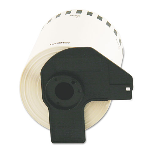Continuous Length Shipping Label Tape for QL-1050, 4 x 100 ft Roll, White
