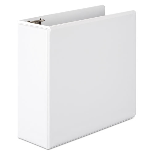 Wilson jones - basic d-ring vinyl view binder, 4-inch capacity, white, sold as 1 ea