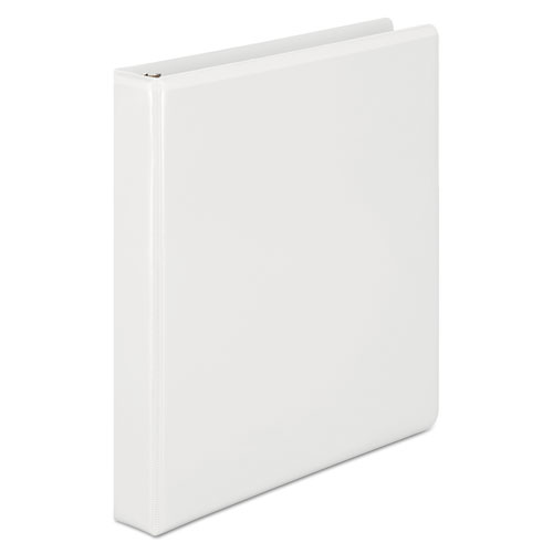 Wilson jones - basic d-ring vinyl view binder, 1-inch capacity, white, sold as 1 ea