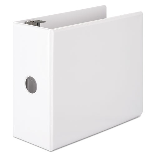 Wilson jones - basic d-ring view binder, 11 x 8 1/2, 5-inch capacity, white, sold as 1 ea