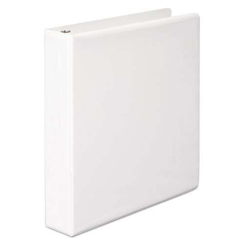 Wilson jones - basic d-ring vinyl view binder, 1-1/2-inch capacity, white, sold as 1 ea