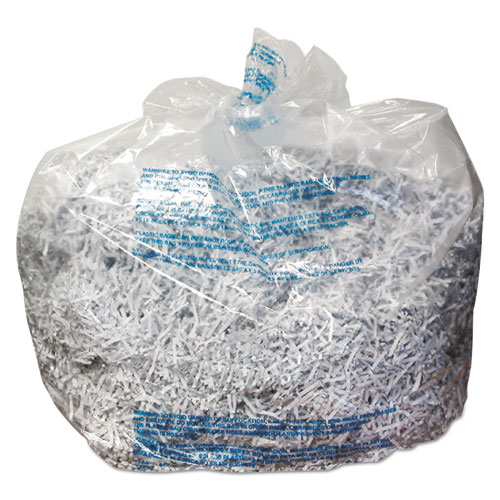 Plastic Shredder Bags, 13-19 gal Capacity, 25/Box | by Plexsupply