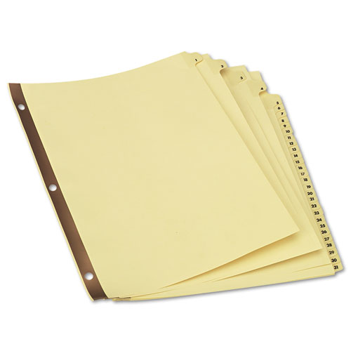 UNV20813 Universal® Preprinted Plastic-Coated Tab Dividers