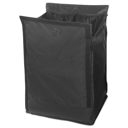 Executive Quick Cart Liner, Large, 12 4/5 x 16 x 22 1/5, Black, 6/Carton