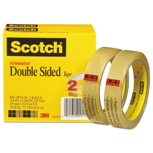 mmm6652p3436 scotch double sided tape zuma. Black Bedroom Furniture Sets. Home Design Ideas