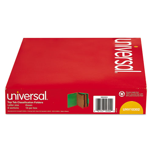 Unv10302 Universal 174 Classification Folders Zuma