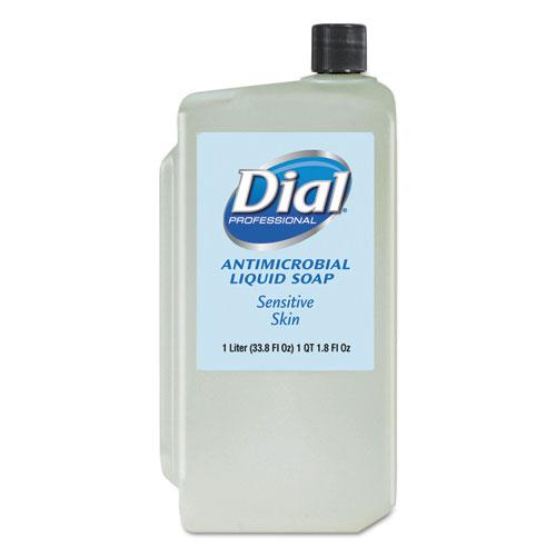 Dial® Professional Antimicrobial Soap for Sensitive Skin, 1000mL Refill, 8/Carton