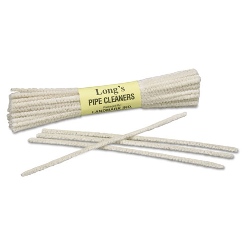 9920002929946, SKILCRAFT, Tobacco Pipe Cleaner, White, Wire/Cotton, 6 x 1, 24/Box