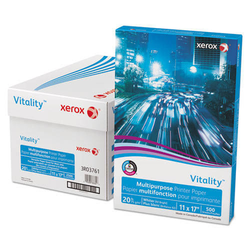 Vitality multipurpose printer paper, 11 x 17, white, 500 sheets/rm, sold as 1 ream