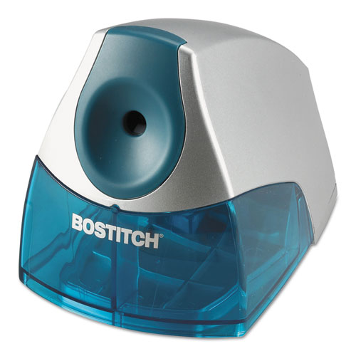 Personal Electric Pencil Sharpener, AC-Powered, 4.25 x 8.4 x 4, Blue