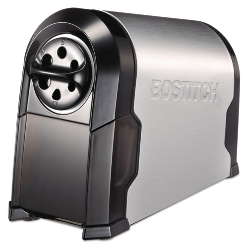 Super Pro Glow Commercial Electric Pencil Sharpener, AC-Powered, 6.13 x 10.63 x 9, Black/Silver