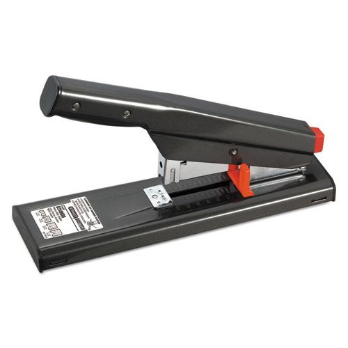 Antimicrobial 130-Sheet Heavy-Duty Stapler, 130-Sheet Capacity, Black | by Plexsupply