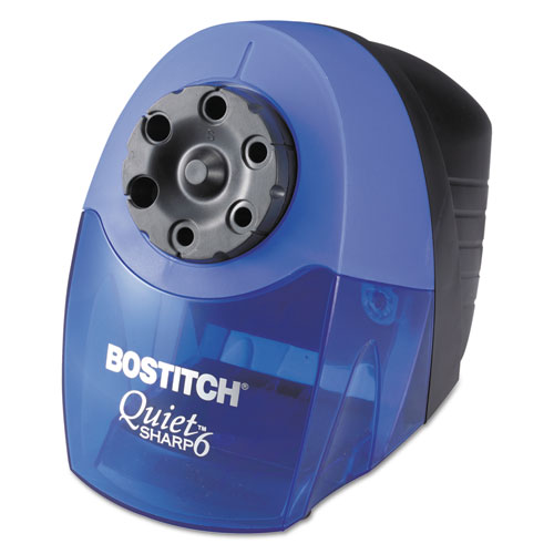 QuietSharp 6 Classroom Electric Pencil Sharpener, AC-Powered, 6.13 x 10.69 x 9, Blue