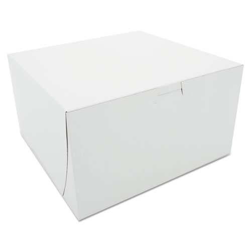 SCT® Bakery Boxes, White, Paperboard, 9 x 9 x 5, 100/Carton