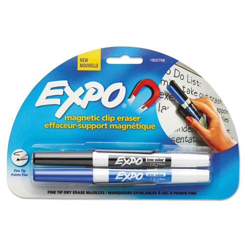 Magnetic Clip Eraser, Fine Bullet Tip, Assorted | by Plexsupply