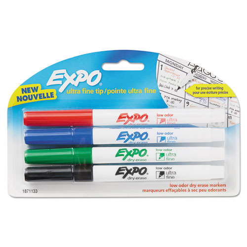 Expo 1871133 Low-Odor Dry-Erase Marker, Ultra Fine Point