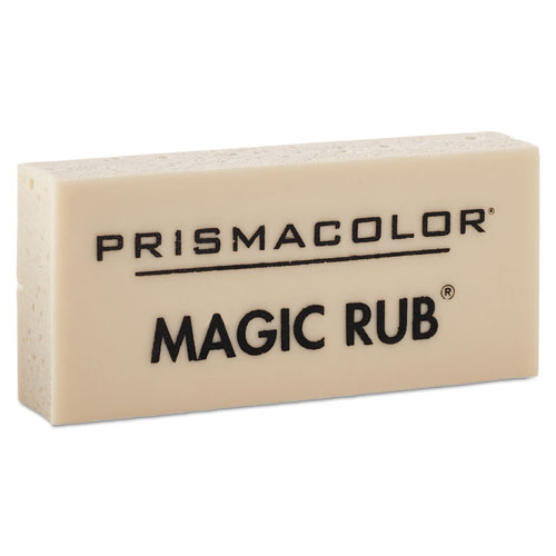 MAGIC RUB Eraser, Rectangular, Medium, Off White, Vinyl, Dozen | by Plexsupply