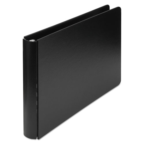 Wilson jones - heavyweight casebound dubllock round ring binder, 11 x 17, 2-inch capacity, black, sold as 1 ea